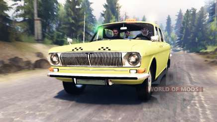 GAZ-24 Volga Taxi for Spin Tires