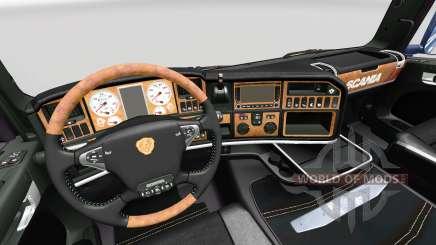 The Dark Line Exclusive interior v2.0 for Scania for Euro Truck Simulator 2