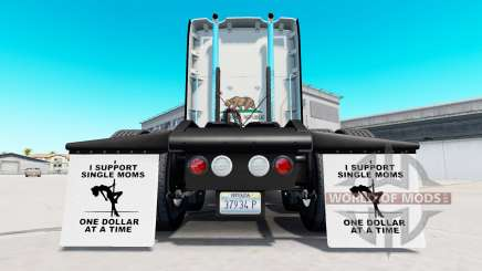 Mudguards I Support Single Moms v1.5 for American Truck Simulator