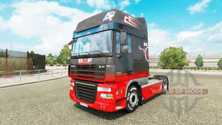 Grey Red skin for DAF truck for Euro Truck Simulator 2