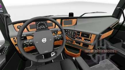 Darkline Exclusive interior for Volvo for Euro Truck Simulator 2