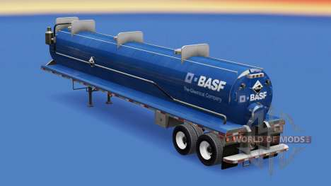 Skin BASF on the tank for acids for American Truck Simulator
