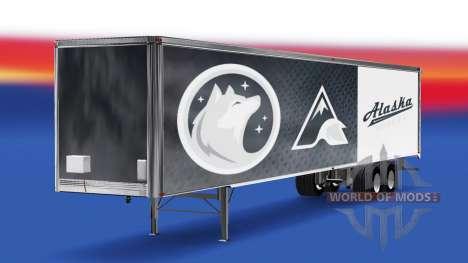 Skin Alaska Huskies on the trailer for American Truck Simulator