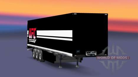UFC skin for trailers for Euro Truck Simulator 2