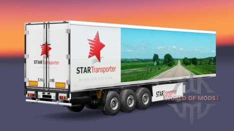 Skin Star Transport on semi-trailers for Euro Truck Simulator 2