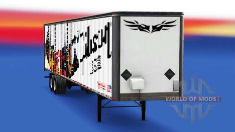 Skin Gibson Guitars on the trailer for American Truck Simulator