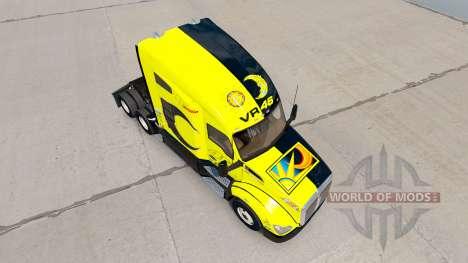 Skin Valentino Rossi on a Kenworth tractor for American Truck Simulator