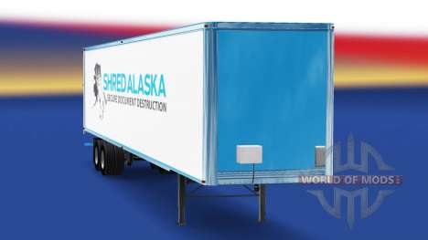 Skin Shred Alaska on the trailer for American Truck Simulator