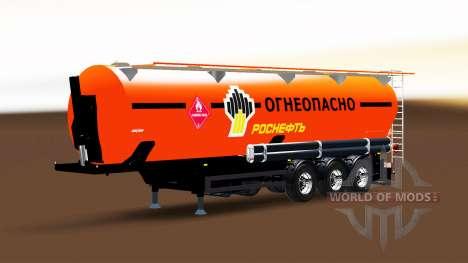 Fuel tank semi-trailer Rosneft for Euro Truck Simulator 2