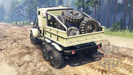 KrAZ-255 B1 Crocodile for Spin Tires