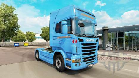 Braspress skin for Scania truck for Euro Truck Simulator 2