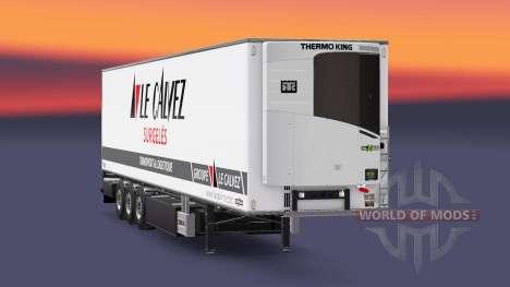 Semi-trailer refrigerator Chereau Le Calvez for Euro Truck Simulator 2