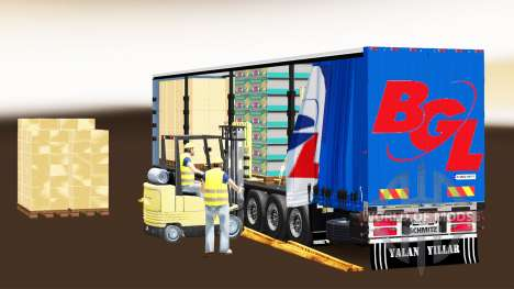 Curtain semi-trailer Schmitz Cargobull BGL for Euro Truck Simulator 2