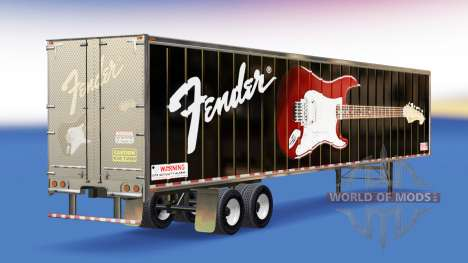 Skin Fender Guitars on the trailer for American Truck Simulator