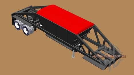 Semi-trailer dumper with bottom discharge for American Truck Simulator