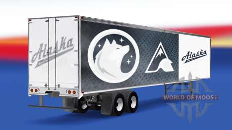 Skin Alaska Huskies on the trailer for American Truck Simulator