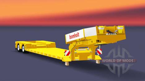 Low bed trawl Doll Bomholt for Euro Truck Simulator 2