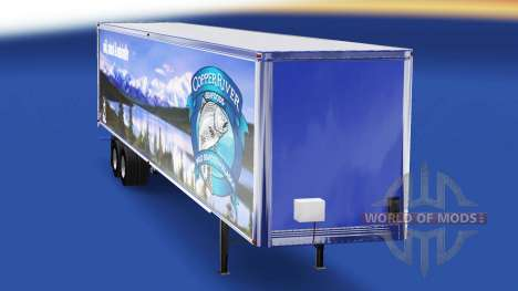 Skin Copper River Seafoods on the trailer for American Truck Simulator