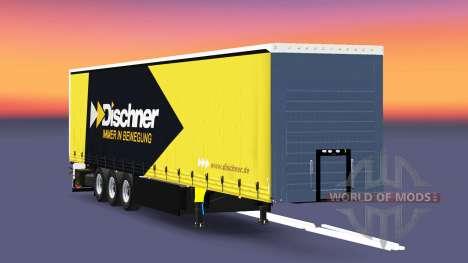Curtain semi-trailer Schmitz Cargobull Dischner for Euro Truck Simulator 2