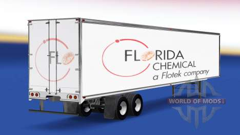 Florida Chemical skin on the trailer for American Truck Simulator