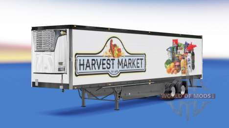 Skin Harvest Market on the back of a semi for American Truck Simulator