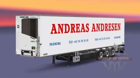 Semi-trailer refrigerator Chereau Andreas Andres for Euro Truck Simulator 2
