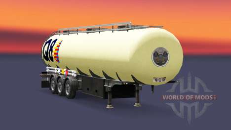 Skin Q8 fuel semi-trailer for Euro Truck Simulator 2