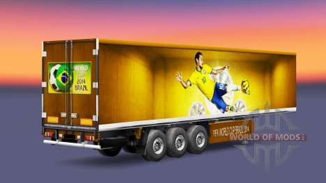 Skin Brazil 2014 to trailers for Euro Truck Simulator 2