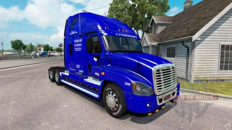 Скин National Carrier на Freightliner Cascadia for American Truck Simulator