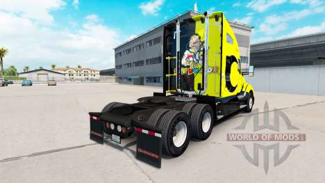 Skin Valentino Rossi on a Kenworth tractor for American Truck Simulator