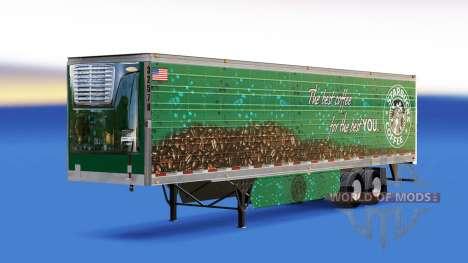 Skin Starbucks Coffee on the trailer for American Truck Simulator