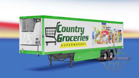 Skin Country Grocery on the trailer for American Truck Simulator