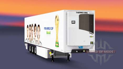 Semitrailer reefer EN FIFA World Cup for Euro Truck Simulator 2