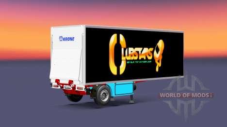 Semitrailer refrigerator Krone Crown Club Stars for Euro Truck Simulator 2