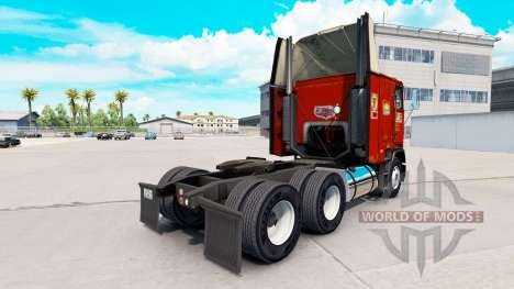 Skin PIE on truck Freightliner FLB for American Truck Simulator