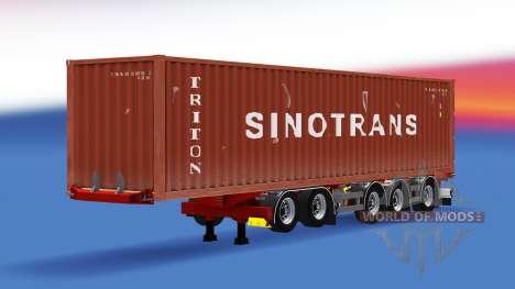 Container semi-trailer D-tec for American Truck Simulator