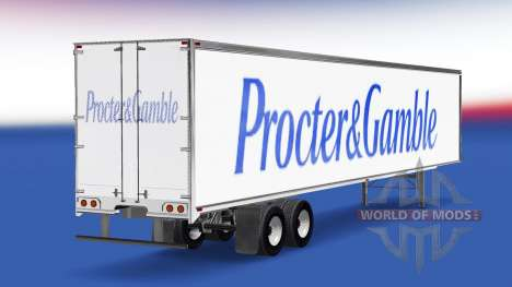 Skin Procter & Gamble trailer for American Truck Simulator