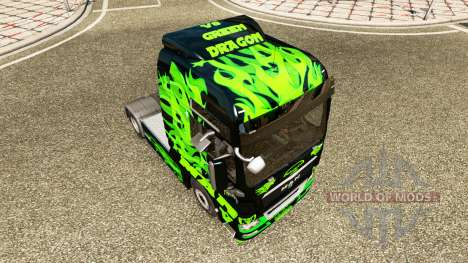 Green Dragon skin for MAN truck for Euro Truck Simulator 2
