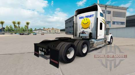Skin Walmart on the truck Kenworth W900 for American Truck Simulator