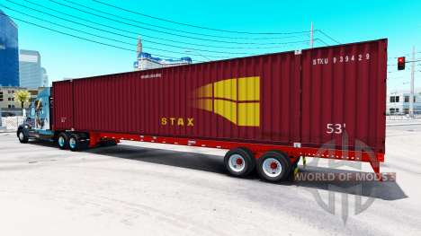 Semitrailer container STAX for American Truck Simulator
