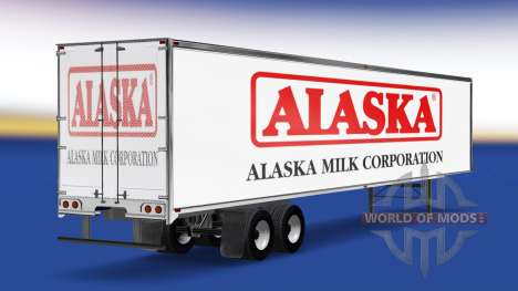 Skin Alaska Milk Corporation on the trailer for American Truck Simulator