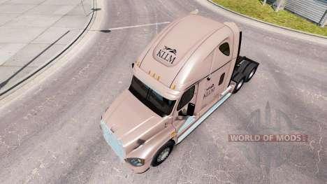 Скин KLLM Transport на Freightliner Cascadia for American Truck Simulator