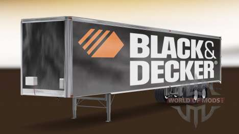 Skin Black & Decker on the trailer for American Truck Simulator