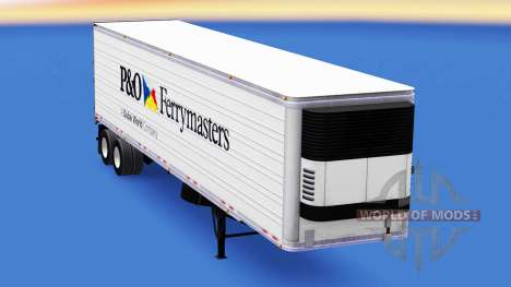 Skin P&O Ferrymasters on the trailer for American Truck Simulator