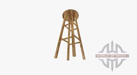 Wooden bar stool for Farming Simulator 2017