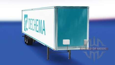 Skin Dechema on the trailer for American Truck Simulator