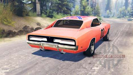 Dodge Charger 1969 General Lee for Spin Tires