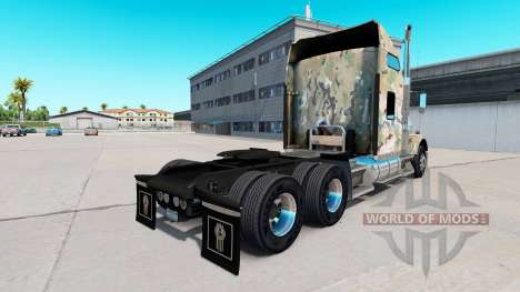 Skin Camouflage on the truck Kenworth T800 for American Truck Simulator