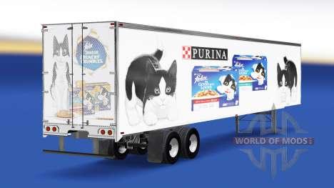 Skin Felix v2.0 on the semi-trailer for American Truck Simulator