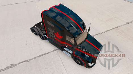 Skin Canadian Express Black truck Kenworth for American Truck Simulator